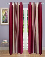 Homefab India Stripes Maroon Door Curtain