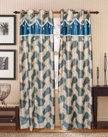 Optimistic Home Furnishing Eyelet Door Curtain Pack of 2