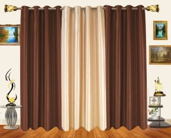 Decor Bazaar Alternate Solids Window Curtain Pack of 3