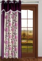 Homefab India Floral Wine Door Curtain