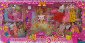 Toy Mall Modern Fashion Doll Set Multicolor