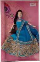 SSB Indian Traditional Doll Blue, Gold