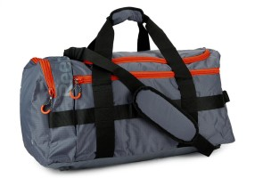 932cff93f2 Reebok Delta M Grip 23.6 inch Travel Duffel Bag Graphite and Blazing Orange  F09