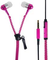 Youritem Zipper Style Earphones Wired Headset Pink