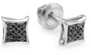 Kavya Jewels Kite Shape 14 K Diamond White Gold Stud Earring