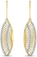 Astrum Diamonds Crescent moon diamond 18 K Diamond Gold Dangle Earring