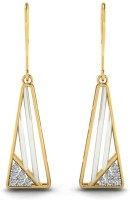 Astrum Diamonds Playful geometrical 18 K Diamond Gold Dangle Earring