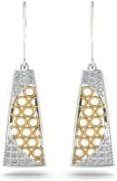 Astrum Diamonds Stunning trapezoid 18 K Diamond Gold Dangle Earring