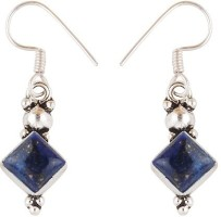 Silver Prince Designer K Lapis Lazuli Alloy Dangle Earring