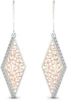 Astrum Diamonds Mystical Trapezoid 14 K Diamond Gold Dangle Earring