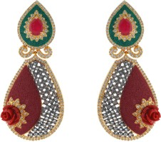 Shree Ambica Pearls & Jewellers 1826 Cubic Zirconia Alloy Drop Earring