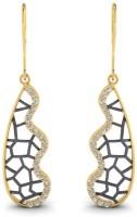 Astrum Diamonds Stunning filigree 14 K Diamond Gold Dangle Earring