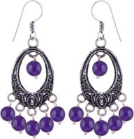 Silver Prince Designer K Amethyst Alloy Dangle Earring