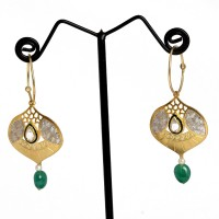 fd67e522b Chandukaka Saraf Style Divine Sterling Silver Plated Silver Hoop Earring