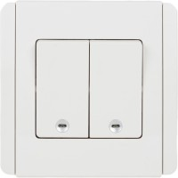 222a82cebae Schneider Classic White 10 One Way Electrical Switch Pack of 1 Number of  Switches - 2