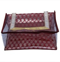 837ebf6cb616 Kuber Industries Designer Saree cover in Red Designer Brocade MKU5091 Maroon