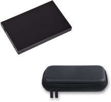 Storite Combo of 2.0 Flowerprint & EVA Case-Black for 2.5 inch Hard Drive Enclosure