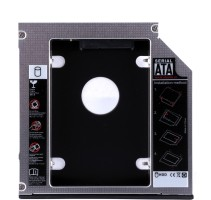 ADMI 12.7mm Universal 2nd bay Caddy for CD/DVD-ROM - Expand your data storage on your Laptop with 2.5 inch Internal Hard Drive Enclosure