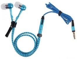 4D Zipper Wired Headset Blue