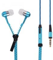 Youritem Zipper Style Earphones Wired Headset Blue