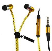 Youritem Zipper Style Earphones Wired Headset Yellow