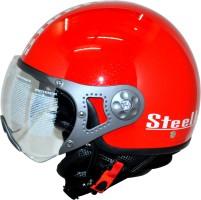 816f372f Steelbird SB-27 Style - Red Sports – Clear Visor Motorbike Helmet - L Red