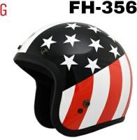 5ff4a1fc THH Fh-356 Open Face Usa Flag Black Base Motorbike Helmet - M