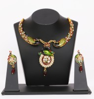 Traditsiya Peacock Kundan Alloy Jewel Set Multicolor