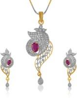 American Diamond Stunning shiyana Copper, Brass Jewel Set Gold, Silver, Maroon