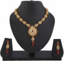 DivaStyleMe Apsara Delight Copper Jewel Set Red, Green, Gold