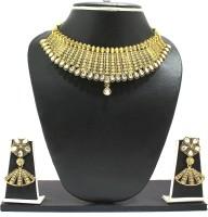 Zaveri Pearls South Style Kundan Zinc Jewel Set Gold, White