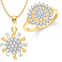 VK Jewels Antique Sun Combo Size: 10 Alloy Jewel Set Gold