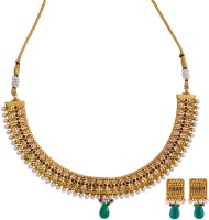 Fabroop Fashion Alloy Jewel Set Maroon, Green