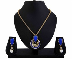 DivaStyleMe Apsara Delight Alloy Jewel Set Blue, Gold