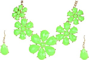Urthn 1102929 Alloy Jewel Set Green
