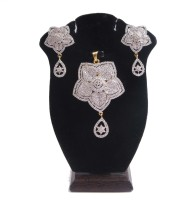 RJ Fashionable Star Shape Ad Alloy Jewel Set White