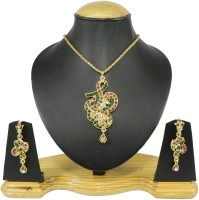 Tradeyard impex Gorgeous Alloy Jewel Set Gold