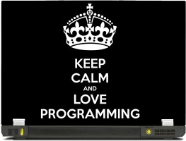 SkinShack New 3D Keep Calm and love Programming (13.3 inch) Vinyl Laptop Decal