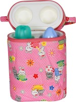 Ole Baby Bunny Print Double Portable Infant Feeding Milk Food Bottle Thermal Warmer Holder (Upto 250ml each)