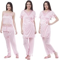 Se Deplace Women's Night Dress Short Robe II Top II Pajama