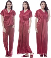 Se Deplace Women's Night Dress Long Robe II Top II Pajama