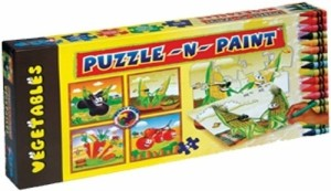 Sunny Puzzle N Paint Vegetables 36 Pieces