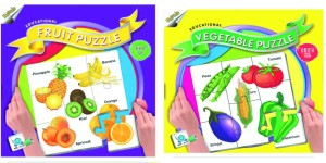 Ratnas Pack Of 2 -Educatinal Fruit And Vegetable Puzzle 88 Pieces