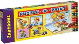 Sunny Puzzle N Paint Cartoons 36 Pieces