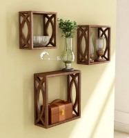 Home Sparkle Cubical 3 - Shelf Rack Wooden