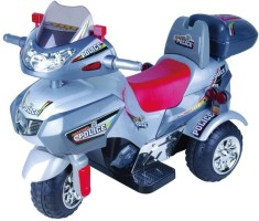 Ayaan Toys Police Baby Bike Silver