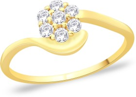 Peora Sterling Silver 18K Yellow Gold Plated Ring