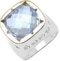 Johareez Brass Quartz Brass Plated Ring