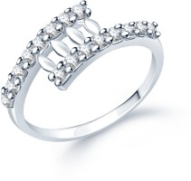 Sukkhi Classy Alloy Cubic Zirconia Rhodium Plated Ring