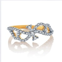 Karatcraft Ribbon Knot Yellow Gold Diamond 18 K Ring